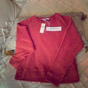 Anthropologie: salmon crop sweater